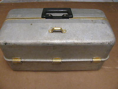 Vintage Aluminum Fishing Tackle Box