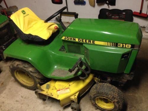 john deere lawn tractors 314 & 318