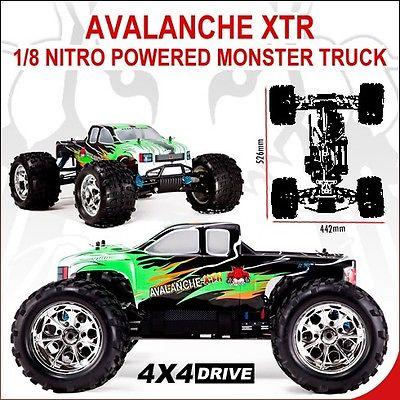 Avalanche XTR Truck 1/8 Scale Nitro (With 2.4GHz Remote Control)