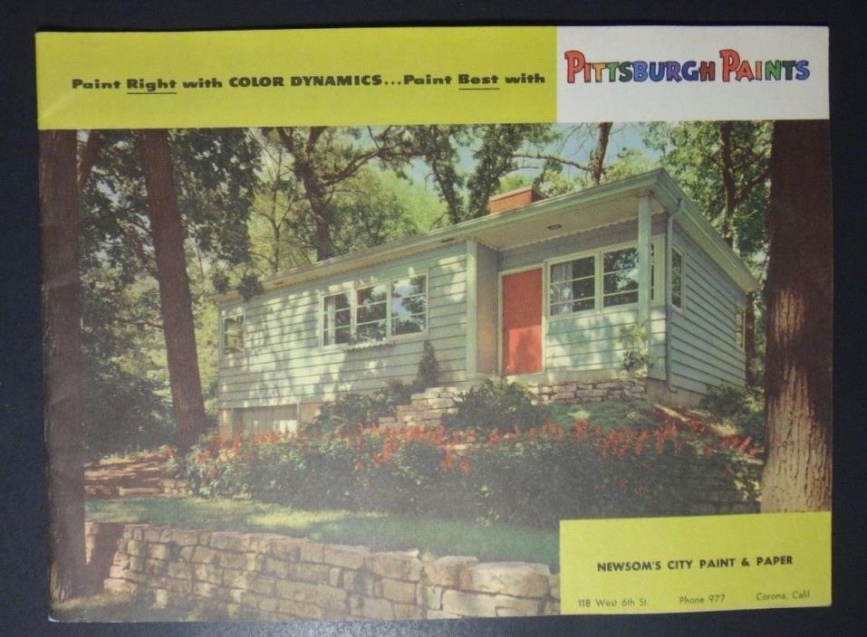 Vintage 1949 Pittsburgh Paints - Mid-Century Modern Painting Sales Brochure