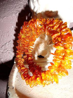 Genuine Baltic Amber Polished Bracelet Natural Honey Color Natural Healing