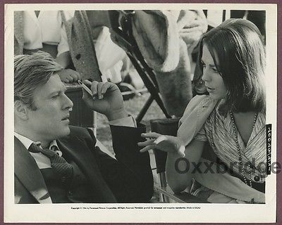 Natalie Wood & Robert Redford Original 1966 Candid On Set  Photo J519
