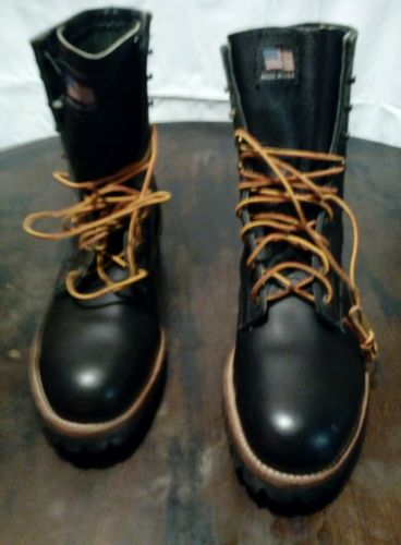 Iron age steel toe work boots for men size 12D color black