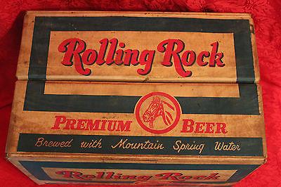 VINTAGE ROLLING ROCK BEER CASE / CRATE