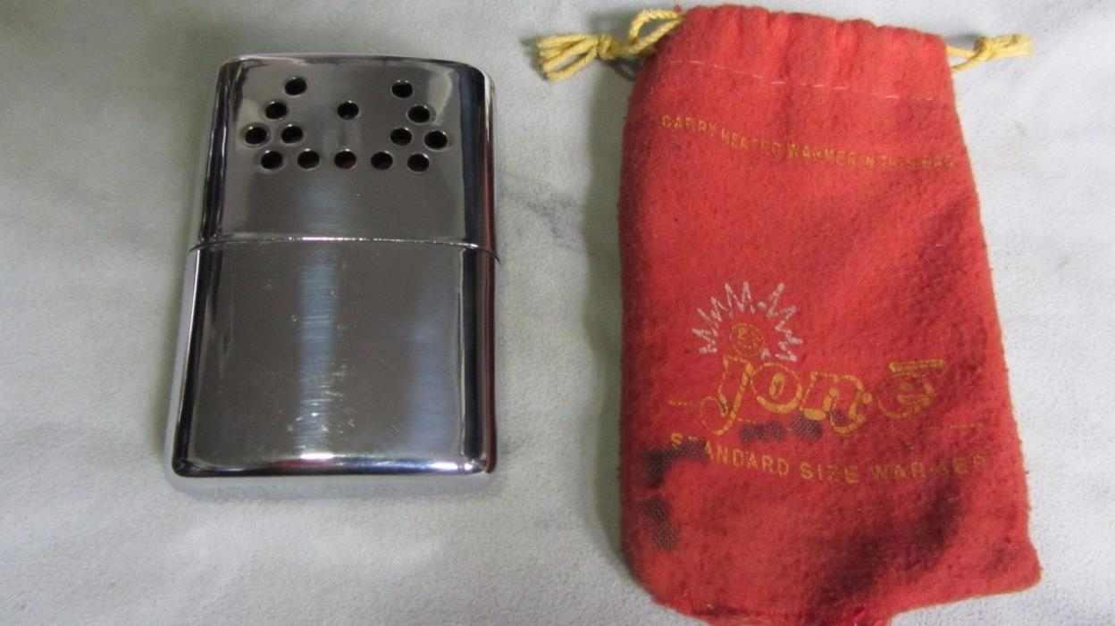 Vintage Jon-E Hand Warmer with Original Pouch