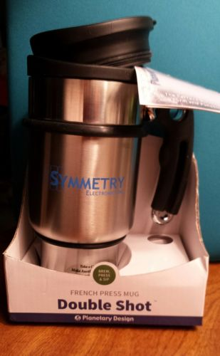 NIB Planetary Design Coffee Travel Mug French Press Stainless Steel ~NEW~