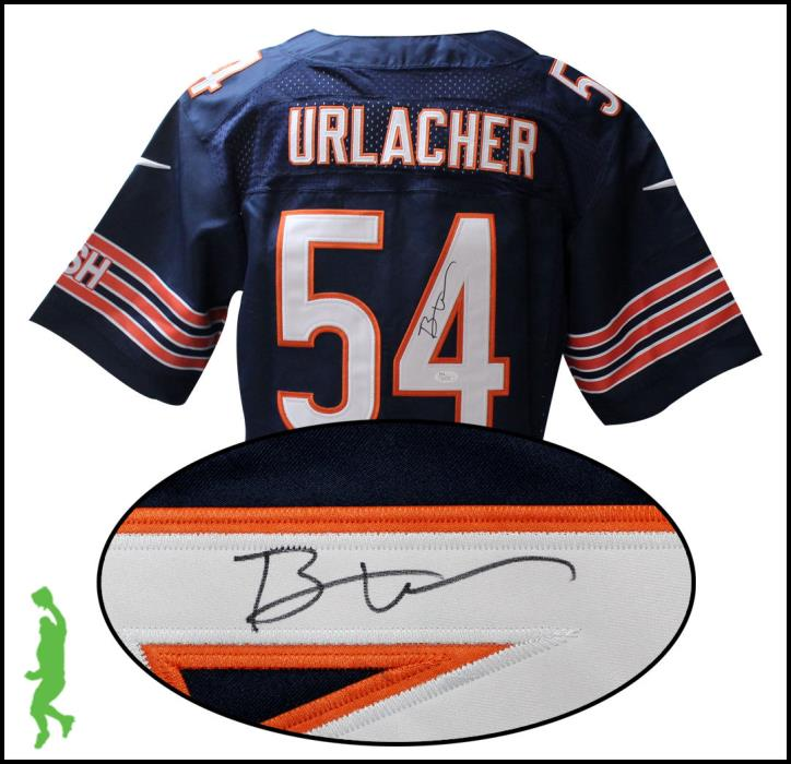 BRIAN URLACHER AUTOGRAPHED SIGNED CHICAGO BEARS FOOTBALL JERSEY JSA COA