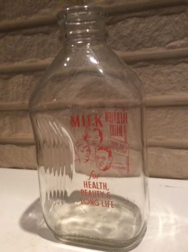 Vintage Half Gallon Glass Milk Bottle Fairview Dairy Meadville, Pa