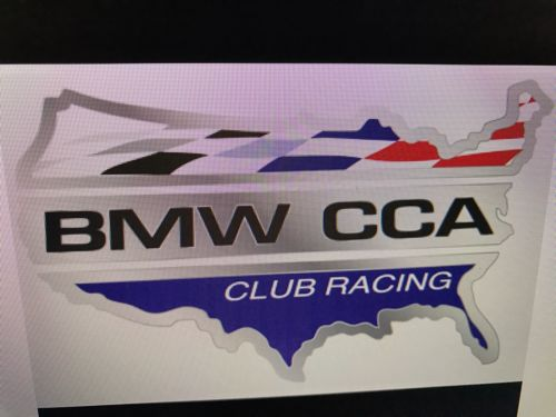 Official Bmw CCA Car Club of America Club Racing Logo Vinyl Sign Decal 24 X 36