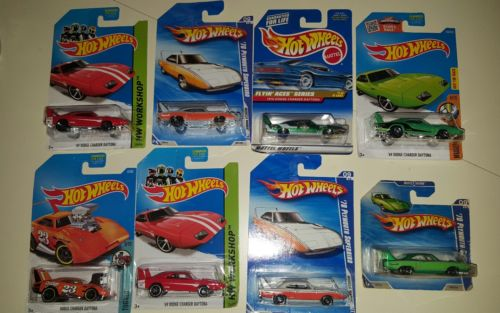 Hot Wheels Lot of 8 Plymouth Superbird, Dodge Daytona  Charger