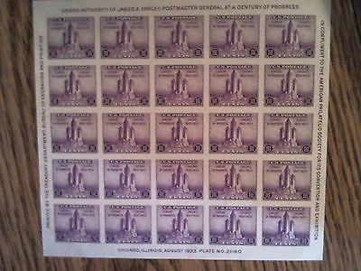 US stamp scott 731 sheet of 25 mint