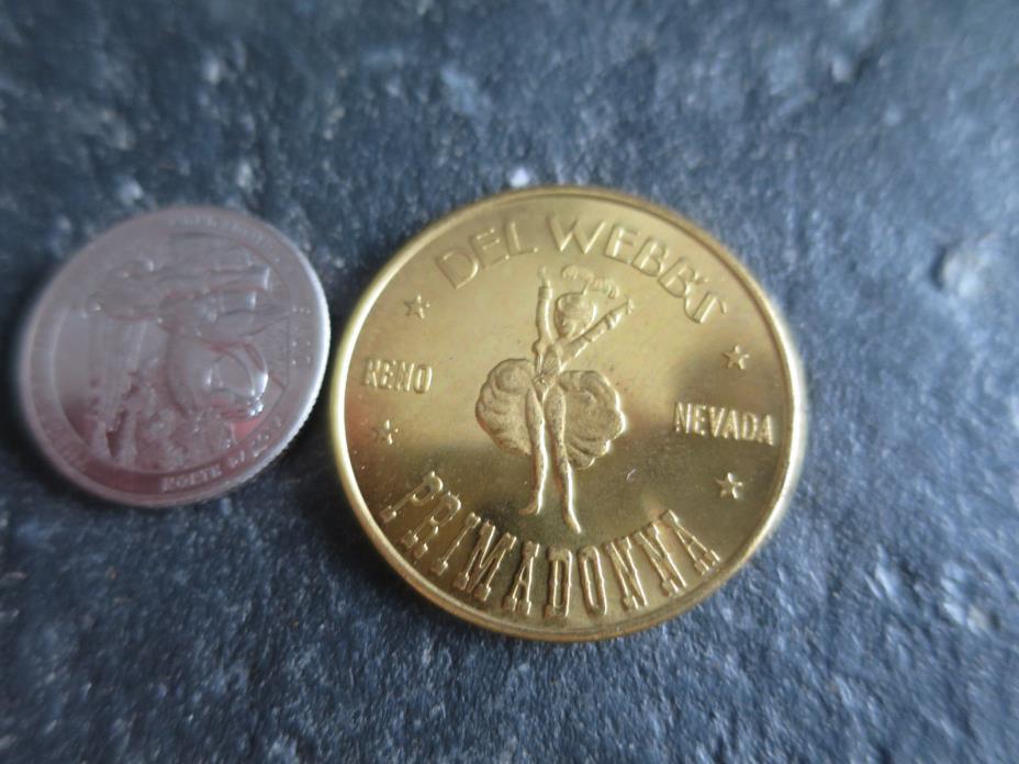 Del Webb's Primadonna Reno Nevada, Bicentennial 1776-1976 36th State coin Token
