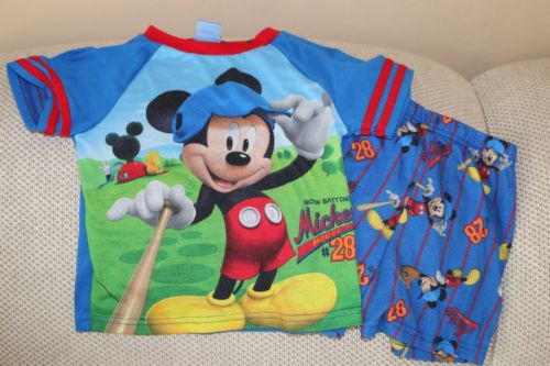 Mickey Mouse Pj Set For Boys. Size 4T.