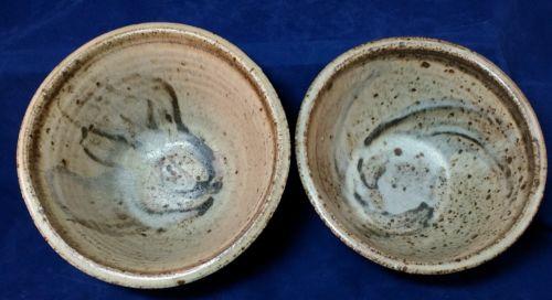 Vintage Mid-Century Modern Stoneware Studio Art Pottery Bowl Vessel Pot Signed