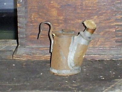 Antique Miners Lamp Lantern Oil Wick Teapot Original with Wick