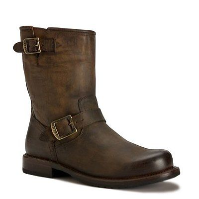 FRYE 87371 Frye Mens Wayde Engineer Pull On Brown Washed Antique Up Boot 8