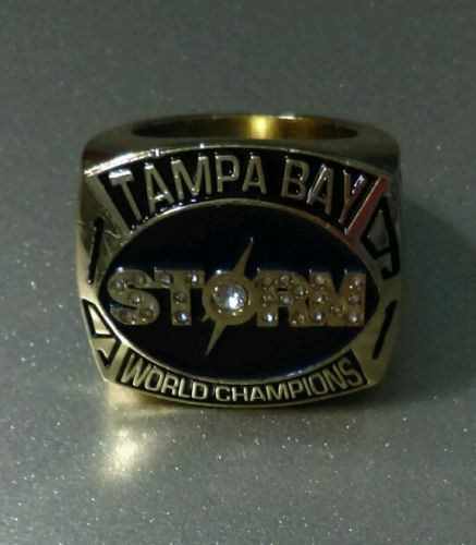 REPLICA 1991 TAMPA BAY STORM CHAMPIONSHIP RING 25TH SEASON Arena Football