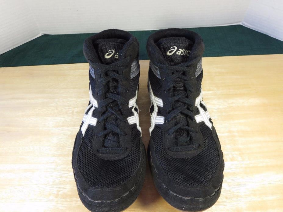 Asics  J100N Matflex 3 Wrestling Mat Black Shoes Men US 7.5  Euro 39