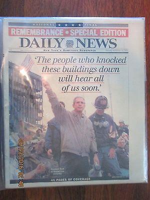 New York Daily News September 15 2001 9 11 9/11 newspaper