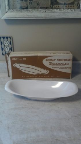 60s rare piece Melmac center Bread Tray  Newportware  NEW OLD STOCK ORIG BOX