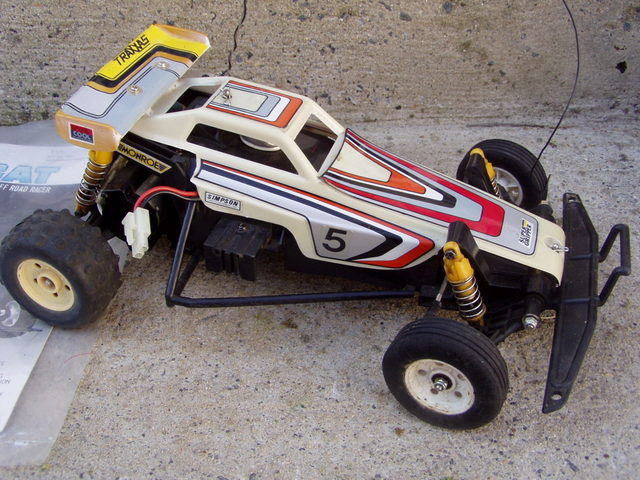 Vintage Traxxas The Cat 1/10 Scale  R/C Off Road Racer Transmitter Time Capsule