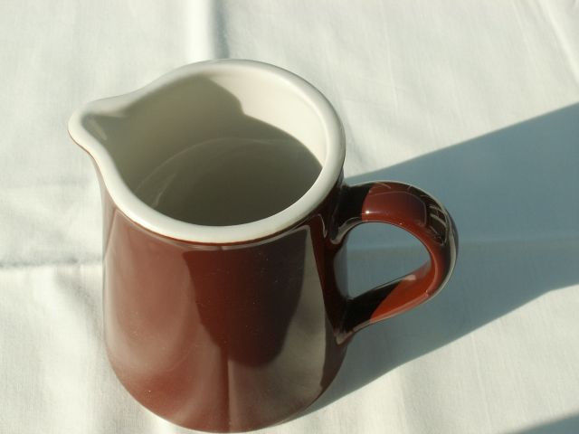 Hall Brown White Creamer Restaurant Ware Style #382 Made in USA