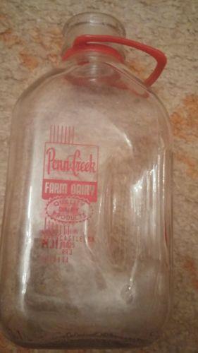 vintage milk bottle Penn-Creek dairy Greencastle PA 1970 half gallon