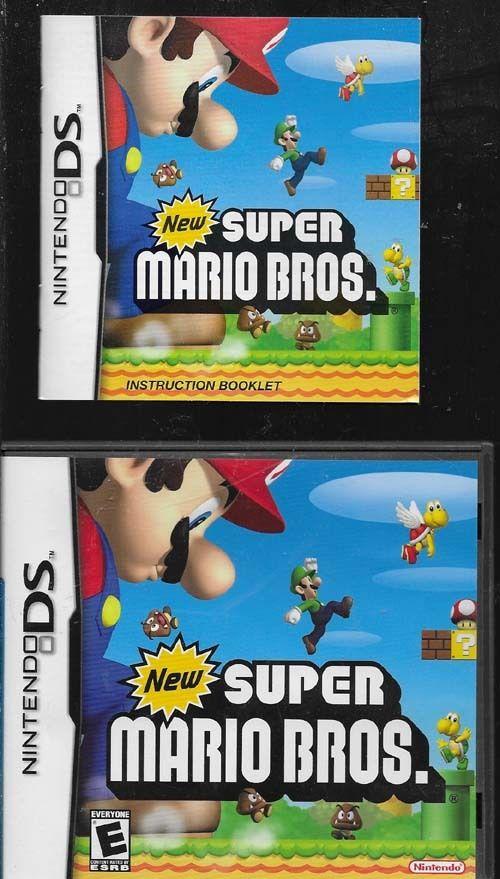 Nintendo DS New Super Mario Bros. Empty Case + Manual *No Game**