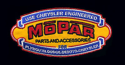 Mopar patch badge parts and accessories chrysler plymouth dodge desoto hot rod