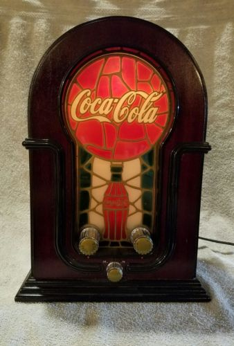 VINTAGE COCA-COLA STAINED GLASS LOOK RADIO