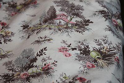 Vintage Coverlet Bedspread Fringe Pom Poms 47