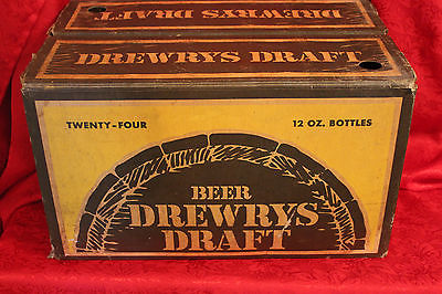 VINTAGE DREWRYS DRAFT BEER CASE / CRATE