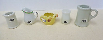 VVINTAGE AND ANTIQUE COLLECTION OF GLASS AND CERAMIC CREAMERS Hall...Grindley