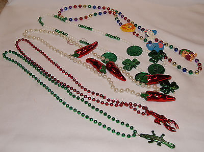 Mardi Gras Beads! Crawfish Alligator Jalapeno Shamrock Animals