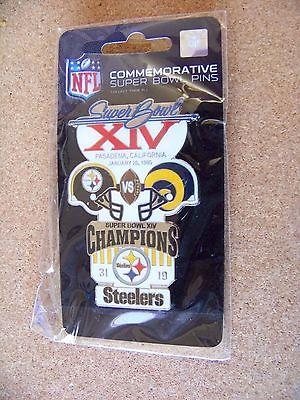 Pittsburgh Steelers vs St. Louis Rams SB S.B. Super Bowl 14 XIV lapel pin