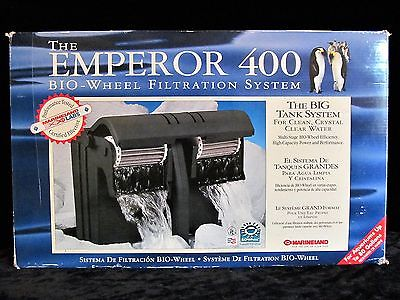 NOS Marineland Emperor 400 BIO-WHEEL Filtration System w/ E Filters MADE in USA