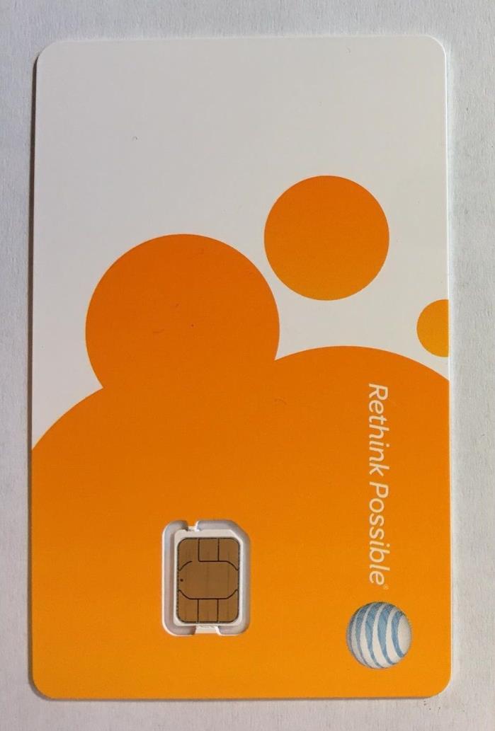 AT&T NANO SIM CARD FOR iPhone 5, 5C, 5S, 6, 6 Plus & iPad Air 4FF  GSM 3G & 4G