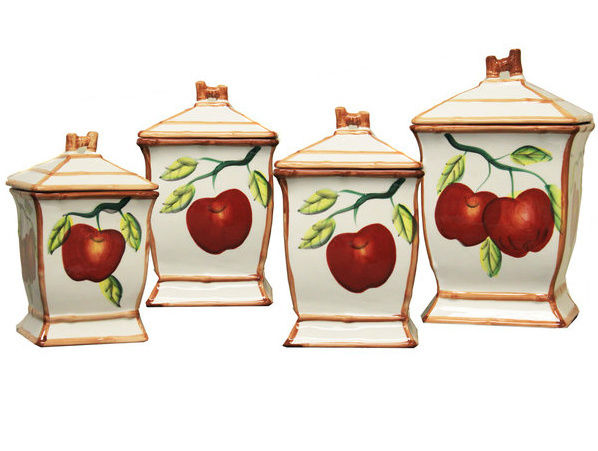 Country Kitchen Decor French Style Home Decorative Canisters Counter Top Decor