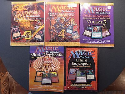 Magic the Gathering Official Encyclopedia - The Complete Card Guide V1-4,6 DS28