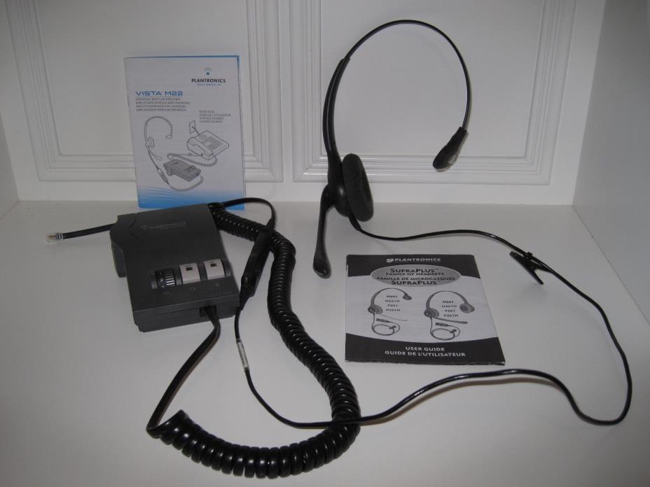 Plantronics Vista M22 Universal Modular Amplifier AND SupraPlus H251N Headset