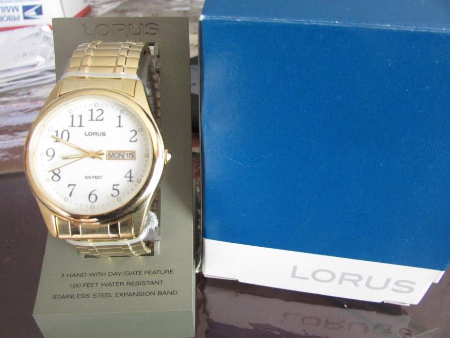 Lot of 7 Lorus watches new in box Mens Stretch Band #LR0246