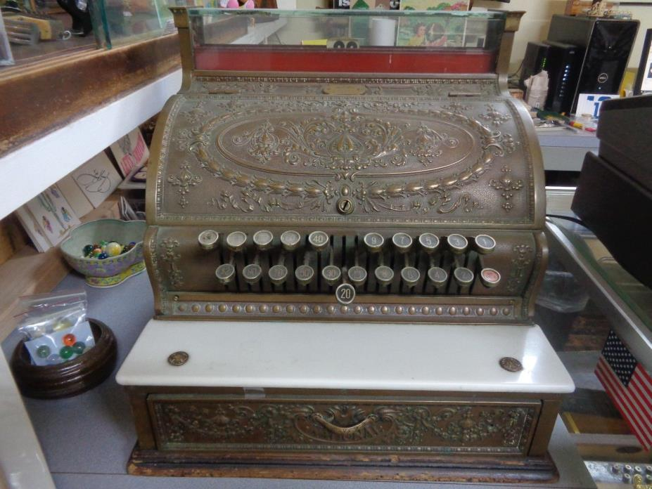 Antique Brass National Cash Register