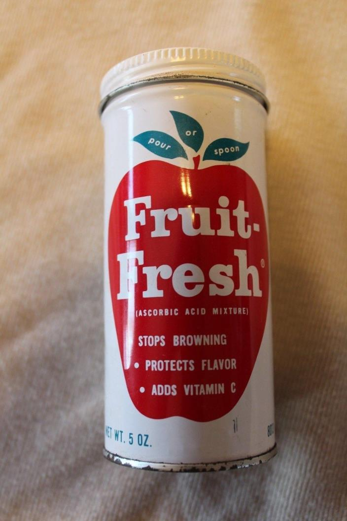 vntge retro kitchen decor pintrest tin canister fruit fresh apple red white 5x3