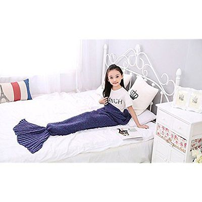 Blankets Mermaid Tail Blanket, AIGUMI All Seasons Mermaid Sleeping Bag Blanket,