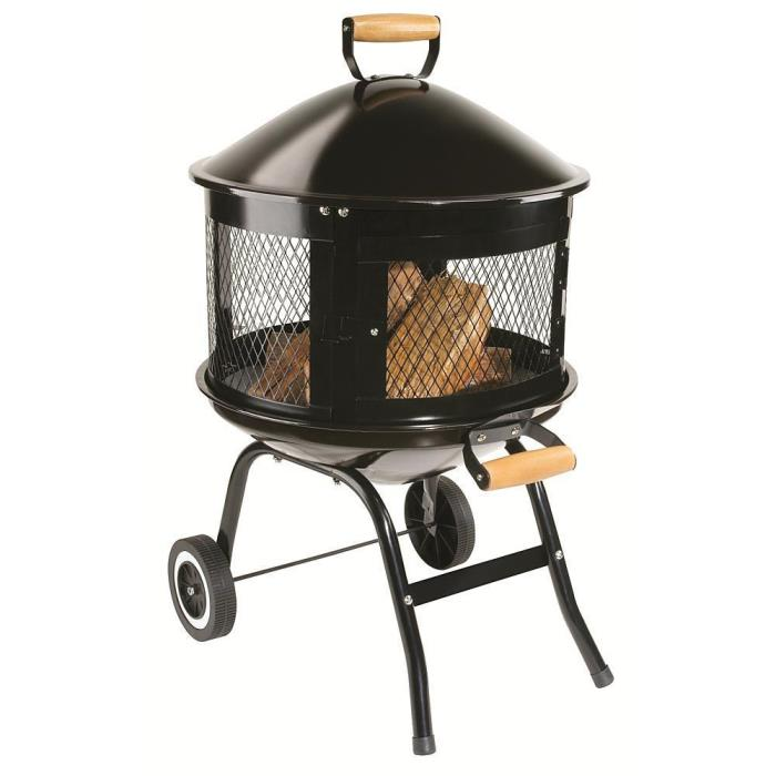 Outdoor Fire Pit Table Patio Fireplace Wood Burning Backyard Yard Heater Stove