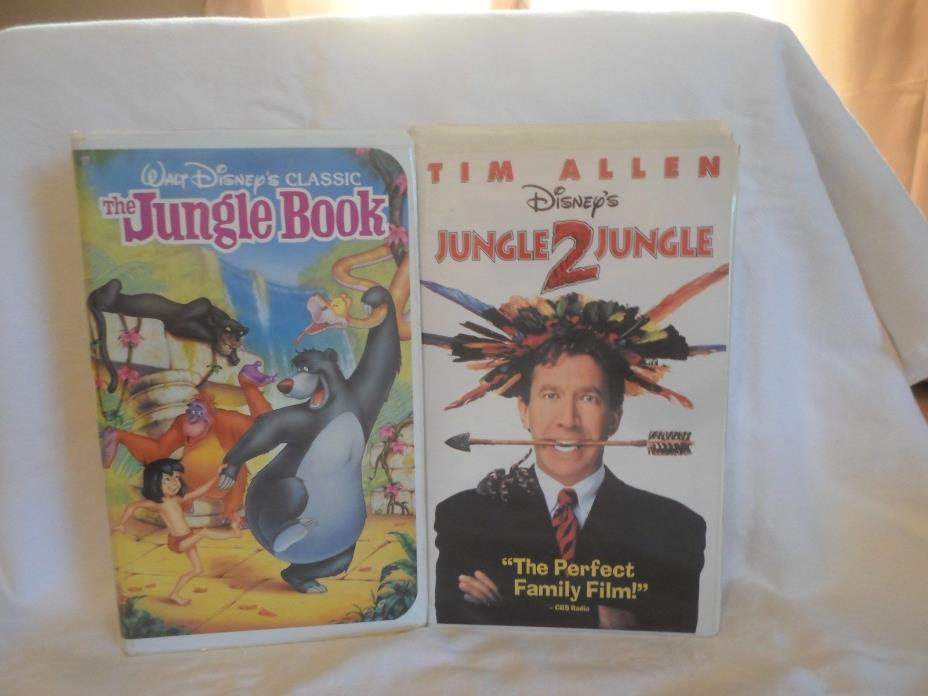 2 Children's VHS Tapes; The Jungle Book & Jungle 2 Jungle