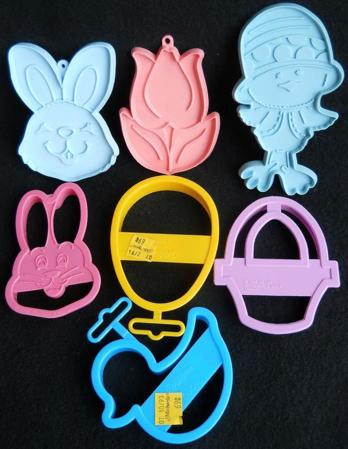 LOT Of 7 EASTER COOKIE CUTTERS Halmark Wilton 2 NEW Bunny Tulip Basket Duck EGG
