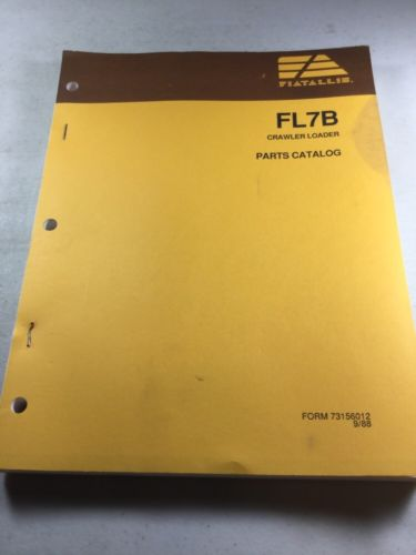 Fiat Allis FL7B Crawler Loader Parts Catalog