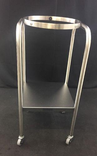 NEW MEDICHOICE Stainless Steel Rolling Single Basin Stand w/Shelf BAST1001
