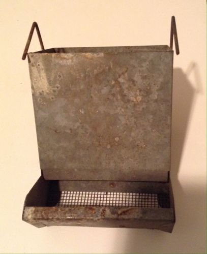 Vintage Primitive Rustic Metal Chicken Feeder Farm Barn Decor